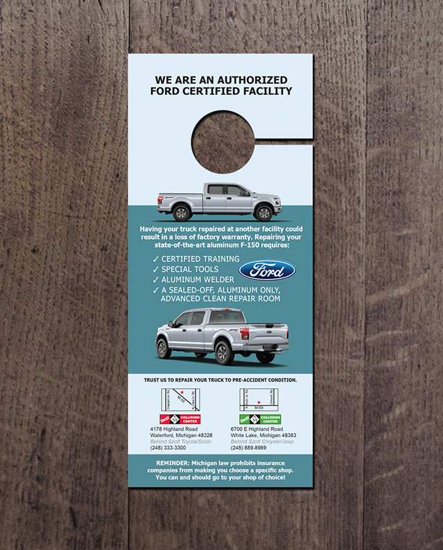 Auto multi ad door hanger advertising walk a for 10000 door hangers